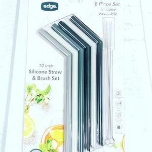 Edge 10 inch Jumbo Silicone Eco Friendly Straws